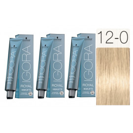 - SCHWARZKOPF - Pack 3 Tintes 12/0 Superaclarante Natural 60 ml