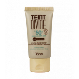 - TAHE - Crema Facial con Color Teint Divine nº 01 FPS 50+ 50 ml