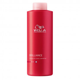 - WELLA - Champú Brilliance cabellos coloreados gruesos 1000 ml