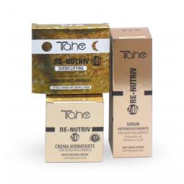 - TAHE - Pack Facial Re-Nutriv (Crema Hidratante Día 50 ml + Serum Noche 50 ml + Suero Lifting 5x2ml)