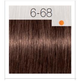 - SCHWARZKOPF - Tinte Igora Royal 6/68 Rubio Oscuro Marrón Rojo 60 ml + oxidante gratis