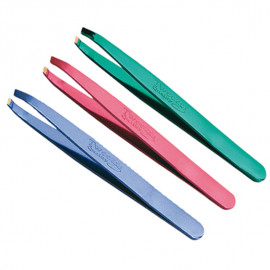 - EUROSTIL - Pinza depilar inoxidable colores metalizados