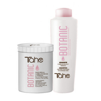 - TAHE - Pack Botanic (champú 1000 ml + mascarilla 700 ml)