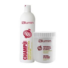 - TAHE - Pack Blumin extracto Cebolla Roja (champú 1000 ml + mascarilla 700 ml)