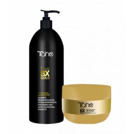 - TAHE - Pack Magic Botox Gold XXL (champú cabellos secos 1000 ml + mascarilla 300 ml)