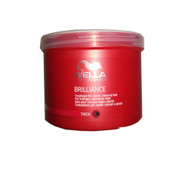 - WELLA - Mascarilla Brilliance cabellos coloreados gruesos 500 ml
