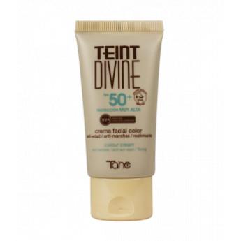 - TAHE - Crema Facial con color Teint Divine nº 02 FPS 50+ 50 ml