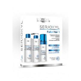 - L´OREAL - Serioxyl Tratamiento anticaída Cabellos Naturales (champú 250 ml + acondicionador 250 ml + tratamiento 125 ml)
