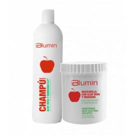 - TAHE - Pack Blumin Aloe Vera y Manzana (champú 1000 ml + mascarilla 700 ml)