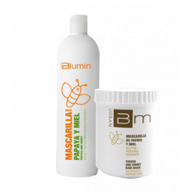 - TAHE - Pack Blumin Papaya y Miel (champú 1000 ml + mascarilla 700 ml)