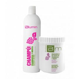 - TAHE - Pack Blumin Frambuesa y Menta (champú 1000 ml + mascarilla 700 ml)