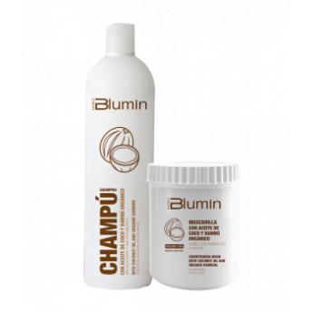 - TAHE - Pack Blumin Aceite de Coco y Bambú Orgánico (champú 1000 ml + mascarilla 700 ml)