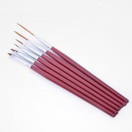 - BIFULL - Set 6 pinceles para la decoración de uñas