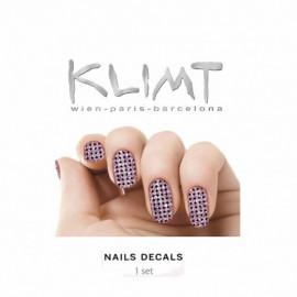 - KLIMT - Pegatinas para uñas Purple Sparks 1 set