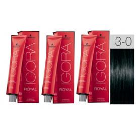 - SCHWARZKOPF - Pack 3 tintes 3/0 Castaño Oscuro 60 ml