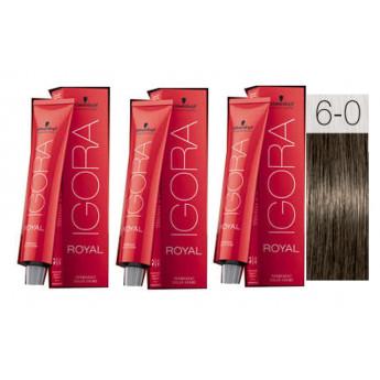 - SCHWARZKOPF - Pack 3 Tintes 6/0 Rubio Oscuro 60 ml